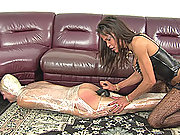 Shrink wrapped dominated and fucked hard
