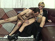 Submissive guy gets his ass spanked by a shemale